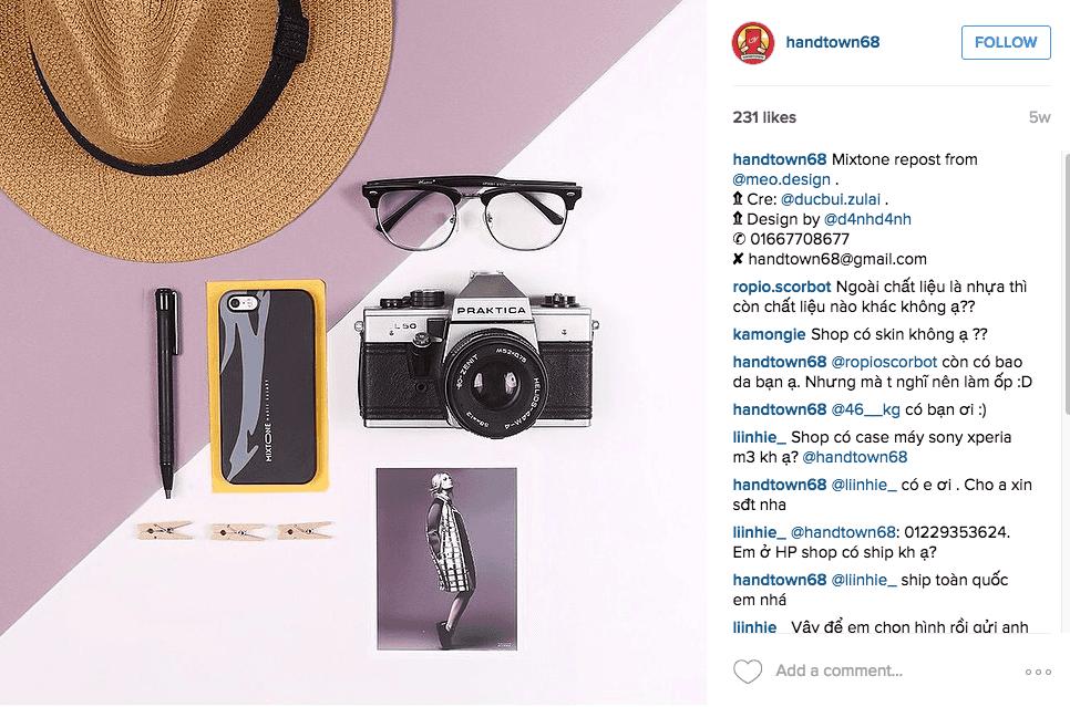Shop cần có style riêng khi bán hàng trên instagram