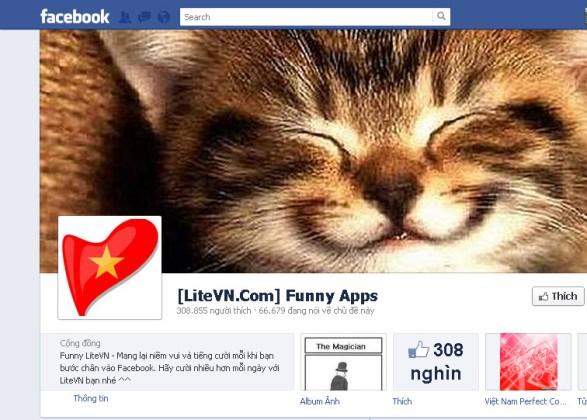 Page của LteVN thu hút hơn 300 nghìn lượt like