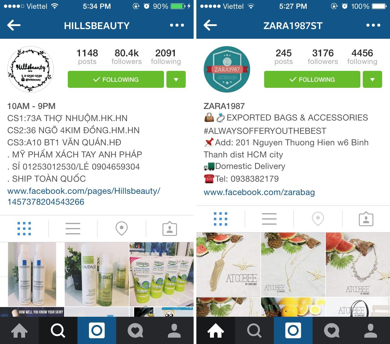 Mô tả về shop thật kỹ khi bán hàng trên instagram
