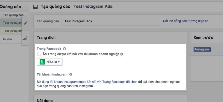 Tạo quảng cáo trên Instagram rất đơn giản