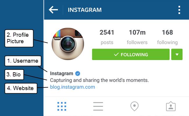 Hồ sơ của bạn trên Instagram: