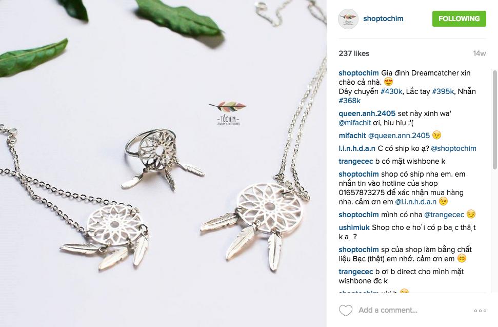Nghệ thuật chụp ảnh sẽ tạo điểm nhấn khi bán hàng trên instagram