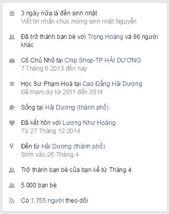 Lưu giữ thông tin facebook