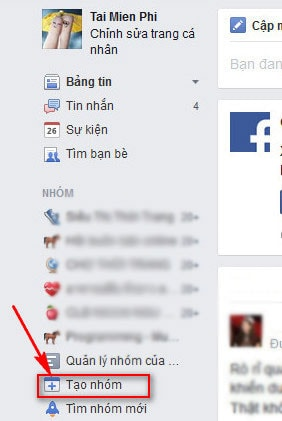 tao nhom facebook
