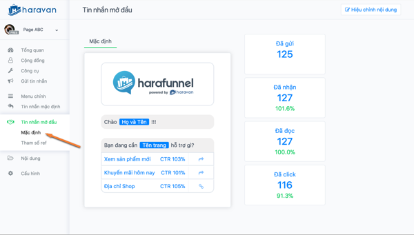 Trọn bộ phần mềm marketing Facebook hỗ trợ bán hàng online của ATP Software - image harafunnel-chatbot-page on https://atpsoftware.vn