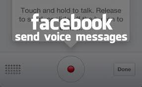 facebook voice message