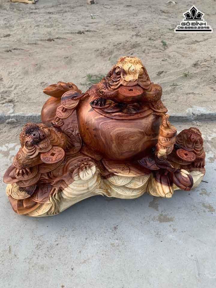 Tượng Tam Cóc Chấn Lộc Gỗ Hương